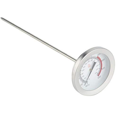 Keukenthermometer voor levensmiddelen, geschikt voor olie, watertemperatuur, vloeistof, roestvrij staal, frituurthermometer, zilver