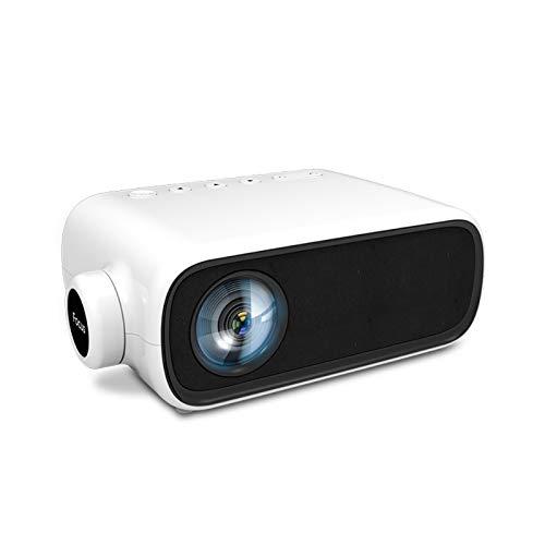 Mini proyector, Full HD 1080P Mini proyector LED Cine en casa Cine, Proyector de películas portátil, USB, AV, Compatible con HDMI, para Cine en casa Multimedia, Dormitorio