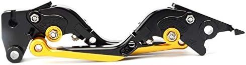Negro+Dorado Palancas de embrague de freno plegables para motocicleta para Kawasa ki Ninja 650 2017-2018 Piezas de moto de palancas extensibles de aluminio