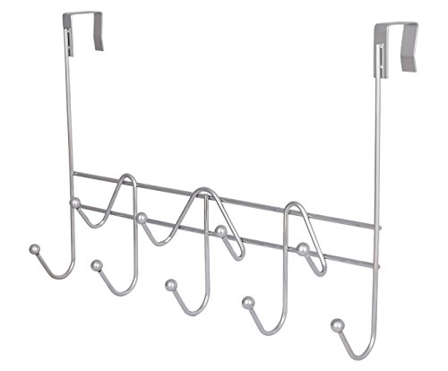 TQVAI Over The Door Hook Hanger Heavy Duty Coat Hooks Rack Organizer, 9 Hooks, Chrome Finish