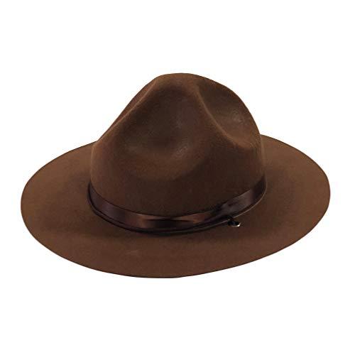 YIDAMY Ranger Hat – Brown Drill Sergeant Militär Kampagne Hut, L
