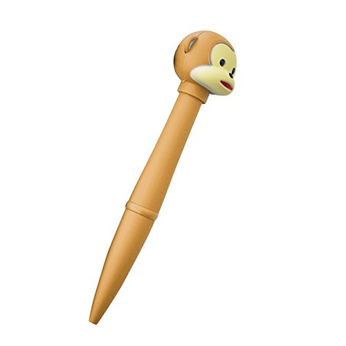 Kalaokei Kugelschreiber mit elektronischer Taschenlampe, mit Affen-/Eulen-Design, Schreibwaren, Büro, Kindergeschenk hellbraun