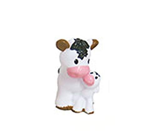 Little People Replacement White Black Mama Cow and Baby Calf or Fisher-Price Animal Friends Caring for Animals Farm Playset DWC31 / CHJ51