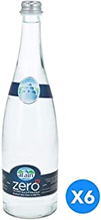 Al Ain Zero, Drinking Water in Glass Bottle - 750 ml (Pack of 6)