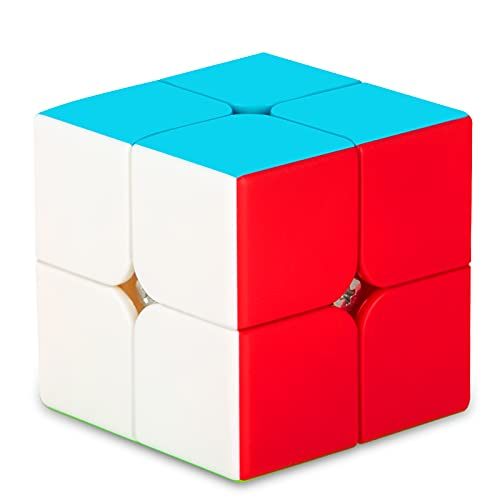 SISYS Zauberwürfel 2x2x2 Speed Cube, 2x2 Magic Puzzle Cube Würfel Aufkleberlos Speedcube 3D Puzzle Spiele für Kinder Erwachsene