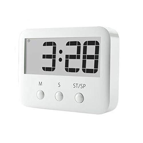QWER LCD numérique Minuteur magnétique de Cuisson Compter jusqu'à minuterie Rappel réveil Cuisson Outil Accessoires de Cuisine,White