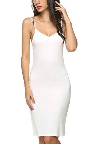 ADOME Damen Unterkleid Trägern Unterröcke Sexy Negligee Nachtkleid Full Slip Miederkleid Nachthemd Nachtwäsche für Frauen