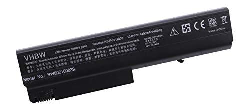 vhbw Akku passend für HP Compaq NC6300, NC6320, NX6330 Laptop Notebook - (Li-Ion, 4400mAh, 10.8V, 47.52Wh, schwarz)