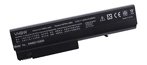 vhbw Li-ION Batterie 4400mAh (10.8V) pour Ordinateur Portable, Notebook HP Compaq Business NX6105, NX6110, NX6110/CT comme HP HSTNN-103C.