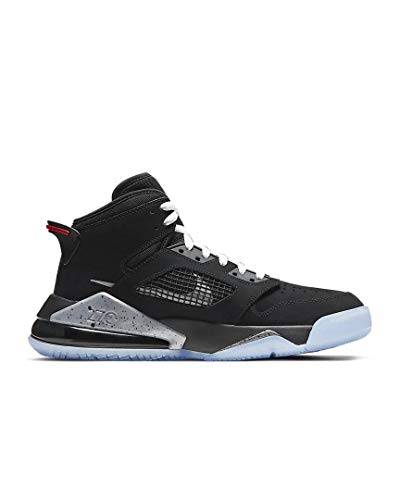 Nike Men's Jordan Mars 270 Basketball Shoe, Black Reflect Silver Fire Red White, 9.5 UK