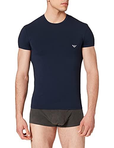 Emporio Armani Underwear T-Shirt Soft Modal, Blu Marino, L Uomo