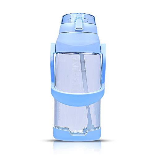 Botella de agua MENCOM de 1 litro, 2 l, para deporte, portátil,...