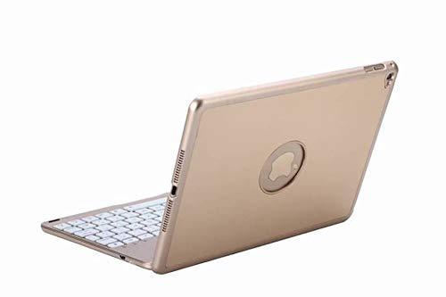 Tablet2you - Toetsenbord - Notebookcase - voor Apple iPad 2019 10.2 - goud kleurig