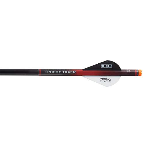 Trophy Taker Shrink Fletch - Red Tube / 2 White & 1 Black Blazer Vanes