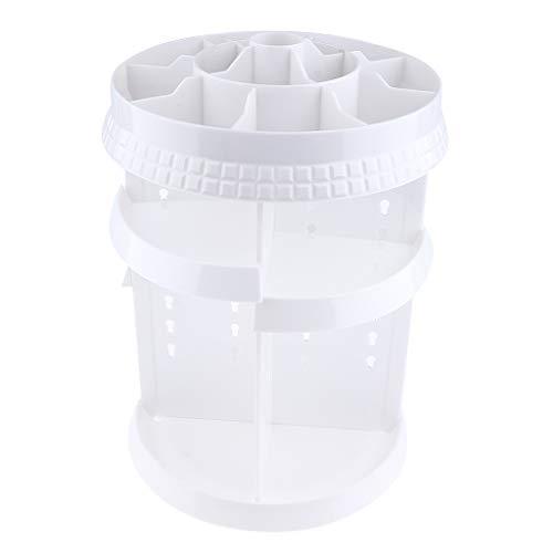 Homyl 4 Etages Présentoir Organisateur Cosmétiques Rotatif 360 Support Maquillage Affichage pour Bouteilles Parfum/Vernis à Ongles/Rouge à Lèvres - Blanc