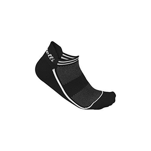 castelli–Invisible Sock, Schwarz, Größe EU 39–41