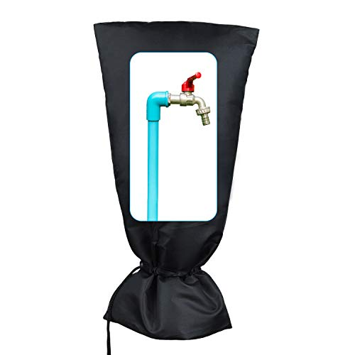 HOMMAND Cubierta para grifos de Exterior, Cubierta de Grifo para protección contra Las heladas de Invierno, Cubierta Impermeable para Grifo de jardín, 50cm x 25cm (Universal)