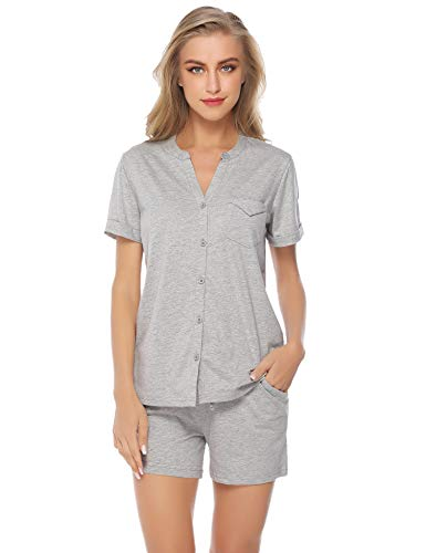 iClosam Pijama Mujer Verano Corto Algodon Set,Pijamas