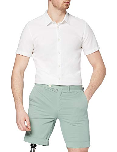 Hackett London Core Amalfi Pantalones Cortos, Verde (Pistachio 616), 31 W para...