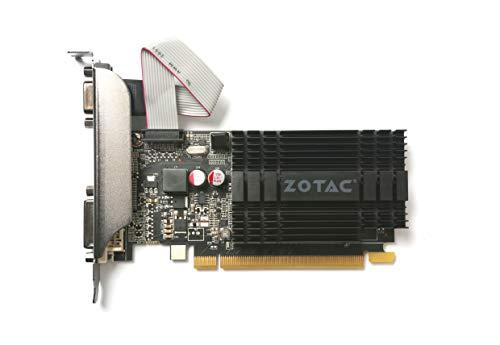 Zotac GeForce GT 710 Zone Grafikkarte (NVIDIA GT 710, 1GB DDR3, 64bit, Base-Takt 954 MHz, 1,6 GHz, DVI-D, HDMI, VGA, passiv gekühlt)