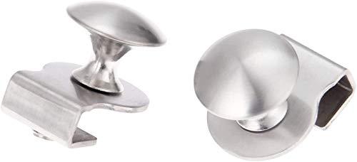 KEEBON Handle de Puerta de Vidrio de Acero Inoxidable 1 unid/Pinza/Clips para Vidrio 5-6mm Muebles Muebles Muebles Cajón Pull Pull Knob Sin perforación