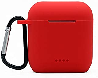 ZALUJMUS Silicone Case Cover Compatible with TOZO T6 Earbuds Charging case (Red)