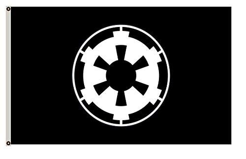 Fyon Large Galactic Empire Black Landscape Flag 3X5Ft