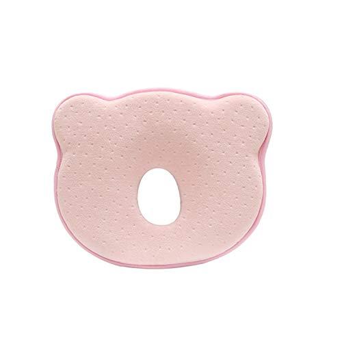 Chilits Almohada para bebé con forma de oso en 3D, espuma viscoelástica para cabeza y cuello, suave contra la cabeza plana, almohada para la prevención y el tratamiento