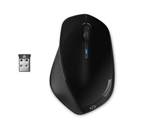 HP - PC X4500 Mouse Wireless, Sensore Preciso, Laser fino a 1600 CPI, 3 Pulsanti, Rotella Scorrimento, Ricevitore USB Wireless 2.4 GHz Incluso, Design Pratico, Confortevole e Flessibile, Nero
