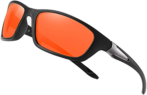 Gafas de sol polarizadas para hombres y mujeres Cool Fishing Golf gafas de sol/gafas de sol deportes al aire libre (A/Oranger)