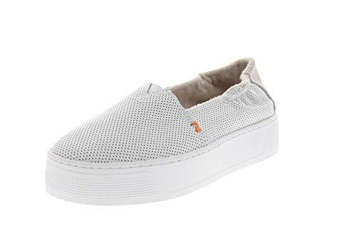 Hub Footwear Damen Sneakers Fuji XL Leather PERF White, Größe:37 EU