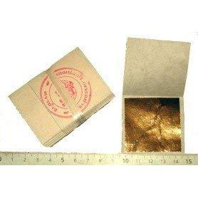 24 K Goldfolie 45 mm x 45 mm (Packung 100 in Base 100% Echt