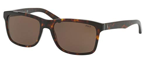Ralph Lauren POLO 0PH4098 Gafas de sol, Shiny Dark Havana, 57 para Hombre