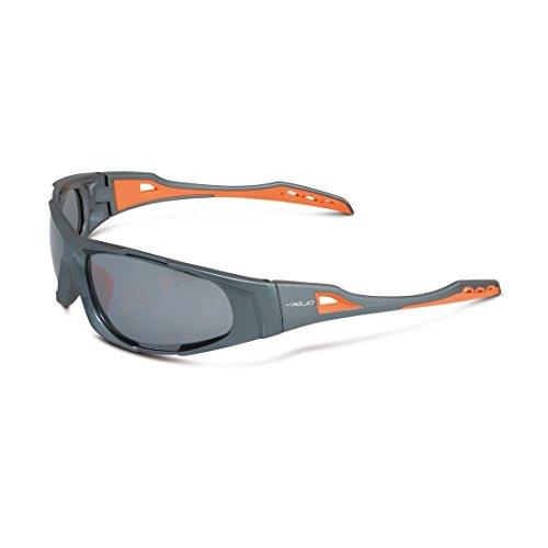 XLC Sonnenbrille Sulawesi SG-C10, grau/Orange, Einheitsgröße