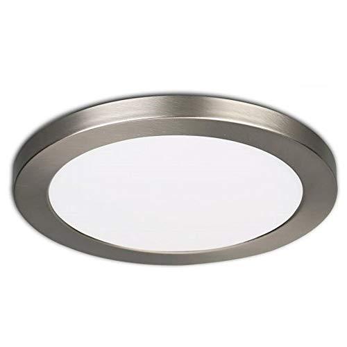 LED Deckenlampe Panel rund 24 Watt - 3000K 3500K 4000K - Einbau Aufbaulampe Deckenleuchte (290mm, Wählbar: warmweiß neutralweiß kaltweiß) von INNOVATE® (14cm Silber - 6W - 500 Lumen)