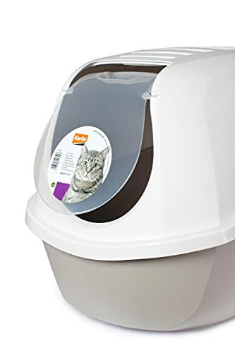 Karlie Flamingo Katzentoilette Smart Cat mit Dach, grau, 52 x 39 x 41 cm - 6