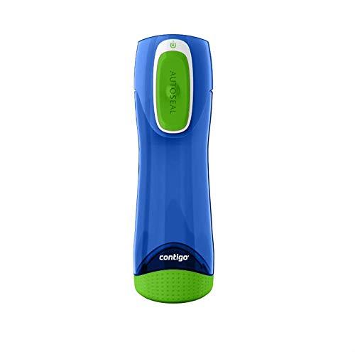 Contigo Trinkflasche Swish Autoseal große BPA-freie Kunststoff Wasserflasche, auslaufsicher, für Sport, Fahrrad, Joggen, Wandern, 500 ml, Cobalt