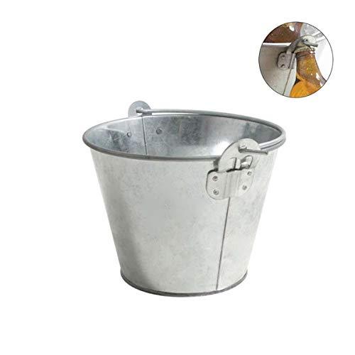 Leyendas Metall-Eimer 2 Liter zum Kühlen von Bier im Garten Spezieller Hotelöffner, der im Eimer enthalten ist. 2 Liter