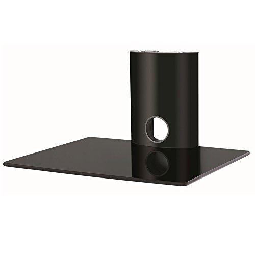 NEG Multimedia TV-Rack Suspender 501B (schwarz) mit Glas-Ablage und Kabelmanagement-System