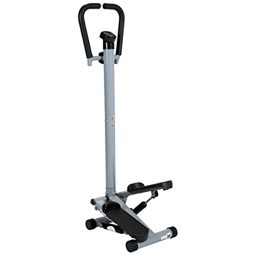 Charles Bentley Twist Fitness Stepper avec Guidon Et Ecran LCD Jambes Exercice Stepper Machine...