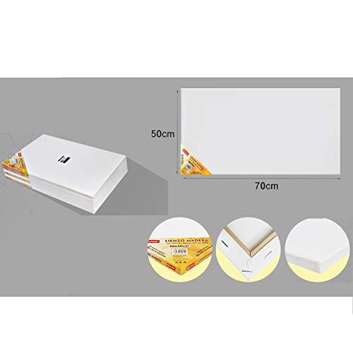 Pack 2 lienzos 50 x 70 cm 100% algodón apto óleo