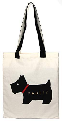 Radley Heritage Dog Canvas tote shopper bag in cream