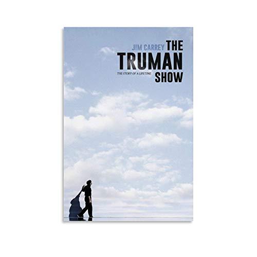 The Truman Show - Poster minimalista con stampa su tela, decorazione estetica, 20 x 30 cm