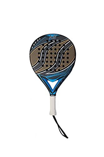 SideSpin Pala de Padel AW6 6k Jacquard Matt (Dorada/Azul) Full Carbon Texturado, Consigue Potencia + Control + Efecto, Unisex Adulto