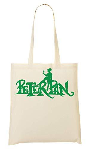 Wicked Design Peter Pan Green Logo Tragetasche Einkaufstasche