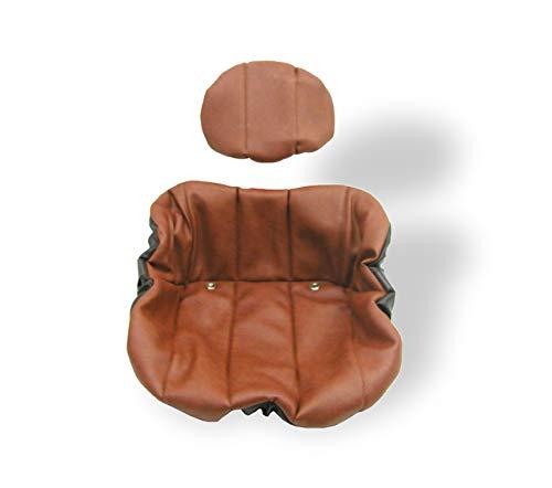 Schonbezug Sitzbezug passend Fendt Farmer Grammer DS 50, S42, S42/1 braun Schleppersitz kissen