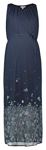 ESPRIT Maternity Damen Dress WVN Maxi sl Kleid, Blau (Night Blue 486), (Herstellergröße: 44)