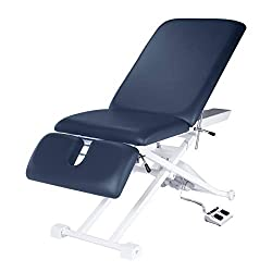 in budget affordable Master Massage Ceramaster 3-part electrotherapy table, royal blue, 29 inches
