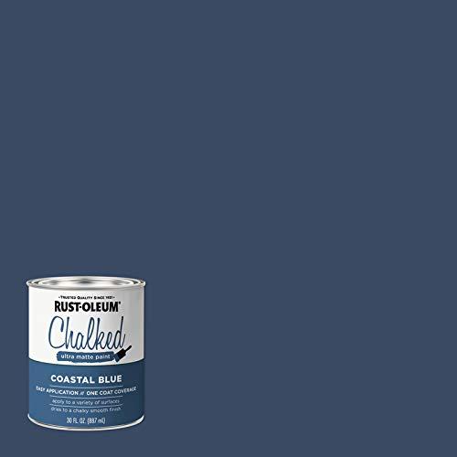 Rust-Oleum Chalked Ultra Matte Coastal Blue Water-Based Chalk Paint 30 oz.