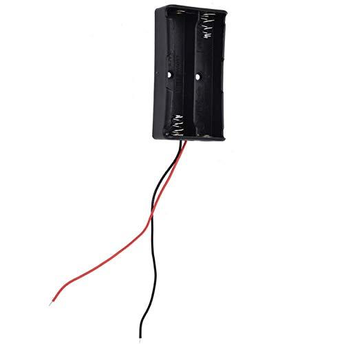 Shipenophy 3.7 menos pérdida de energía batería caso almacenamiento de batería confiable para la batería (2 baterías)